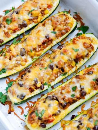 Southwestern Zucchini Boats!