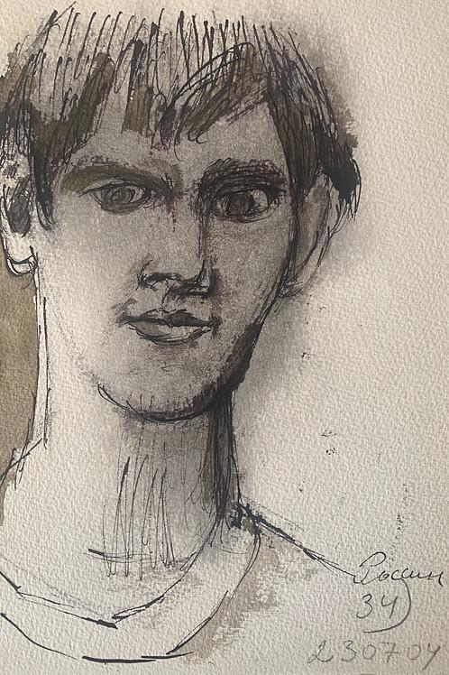 The head of a young man / La tête d'un jeune homme / Голова молодого человека