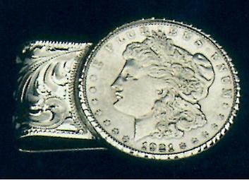 custom steling dollar money clip