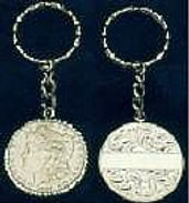 custom sterling dollar key chain