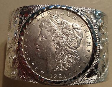 custom sterling and dollar cuff
