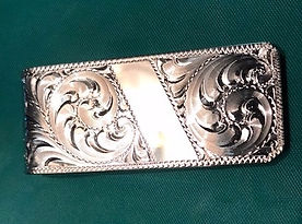 custom hand scrolled sterling money clip