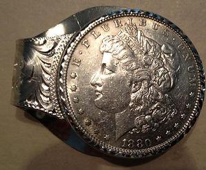 custom sterling and dollar money clip