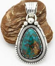 custom sterling and turquoise pendant