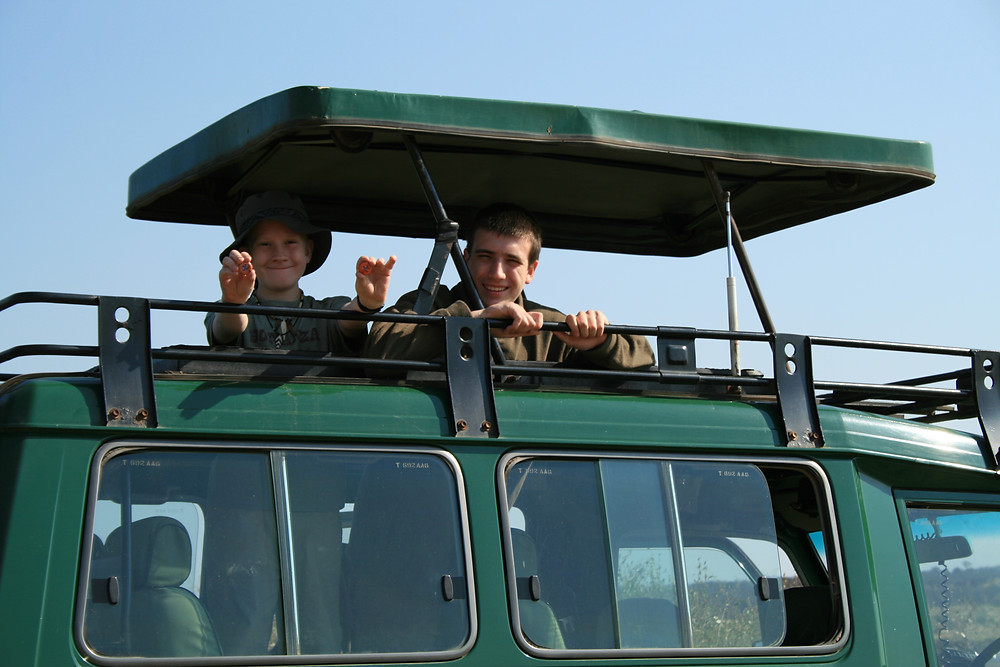 Me and my brother on safari in Tanzania