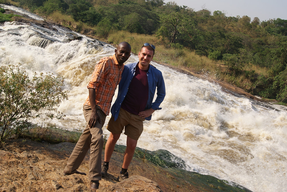 Me and Richard at Murchison Falls