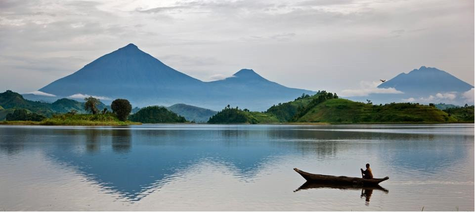 Lake Mutanda, just a few kilometers from Bwindi