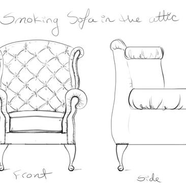 Smoking Sofa