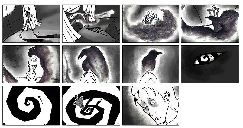 The Raven Storyboard