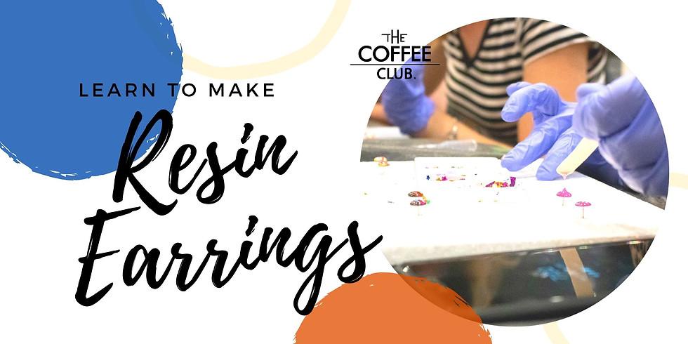 VIRTUAL CLASS - Sip 'n' learn to make moulded resin earrings!