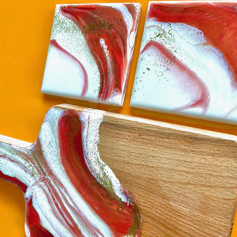 Coffee Club Southgate - Learn to make a mini board and coaster set!
