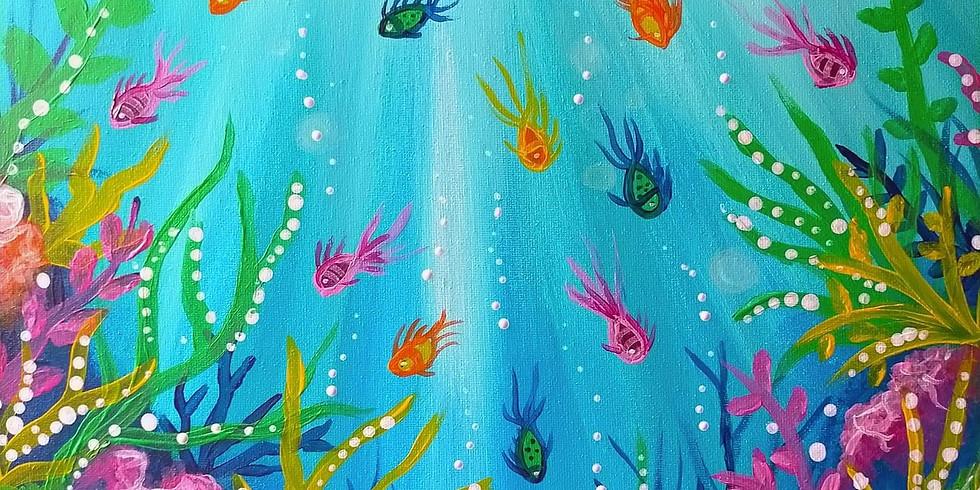 NORTHLAKES - STELLAROSSA - Learn to paint 'Underwater Paradise'