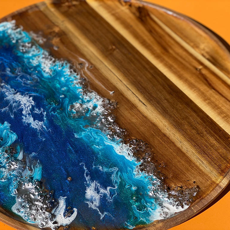 Coffee Club Hyperdome - Learn to make a resin 'coral reef' serving tray!