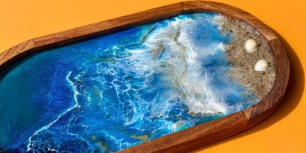 SOUTHGATE - Learn to make a resin platter board!