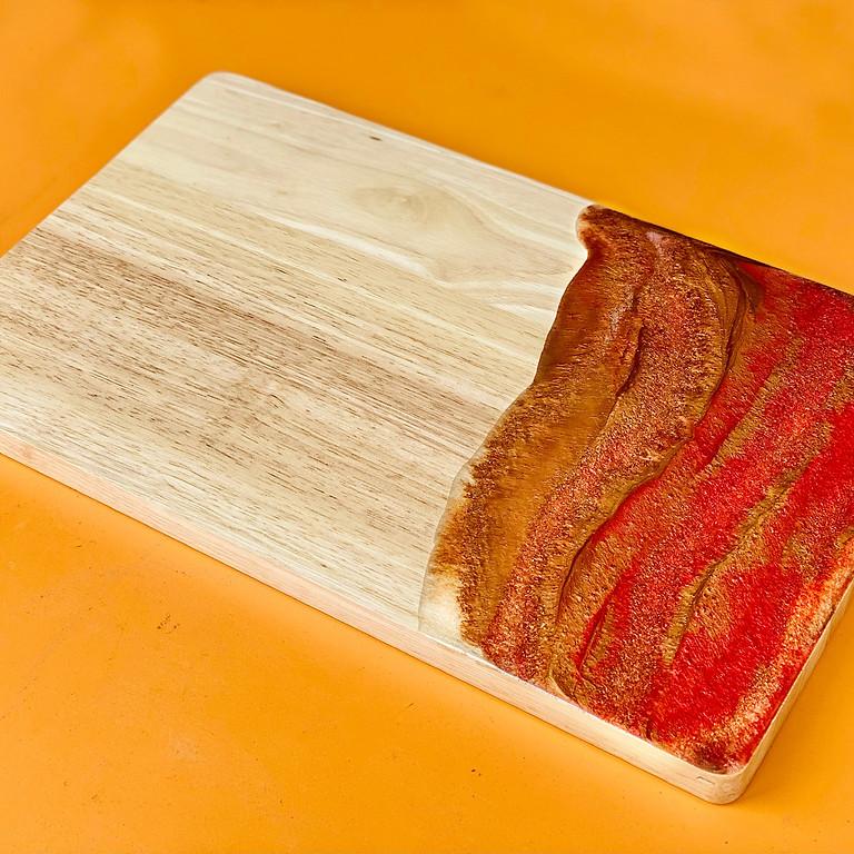 Coffee Club Hyperdome - Learn to make resin Christmas cheeseboard!