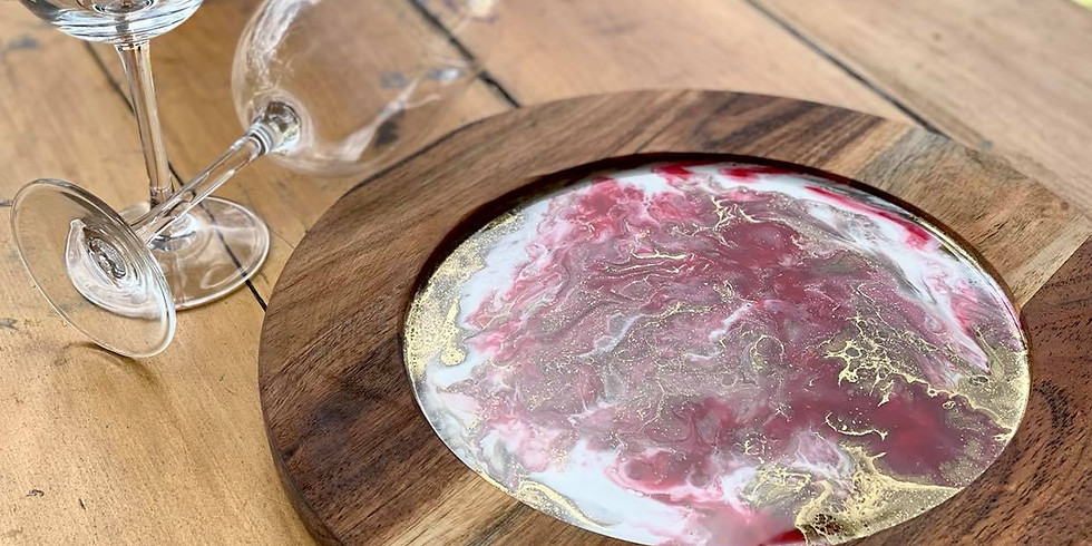Degani Coorparoo - Learn to make a Round Resin Platter Board