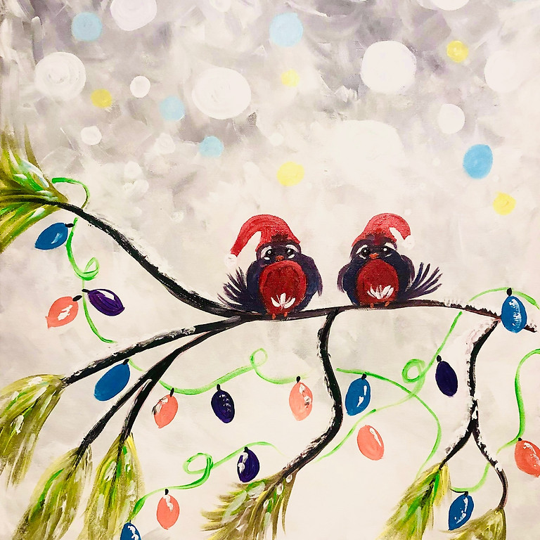 Coffee Club Browns Plains - Learn to paint 'Festive Robins'