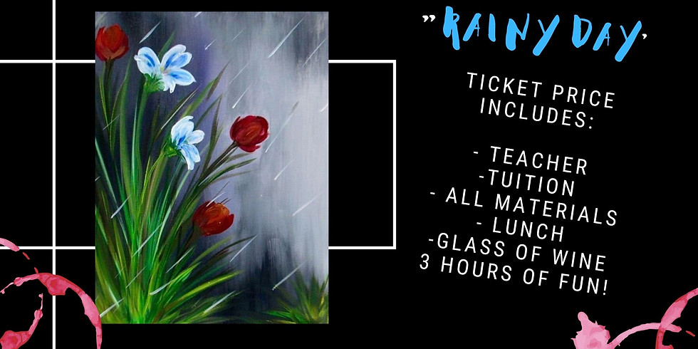 Fundraiser for Fire Fighters - Learn to paint 'Rainy Day'