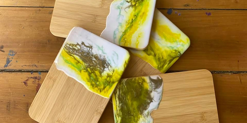 GOODNA - Learn to make 4x Resin Sandwich Trays (choose your own colours)