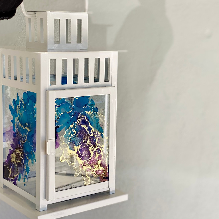 Coffee Club Browns Plains - Learn to make an alcohol ink lantern!