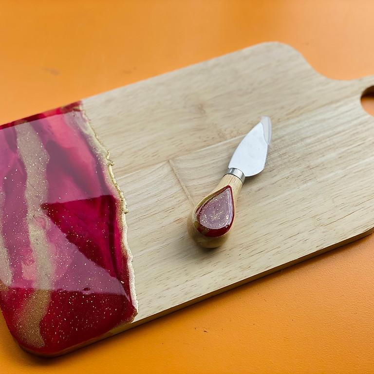 Coffee Club Hyperdome - Learn to make a resin cheeseboard + knife set!