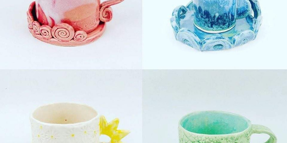 GOODNA - STUDIO - Pottery Class - Create & decorate your own pottery cup!