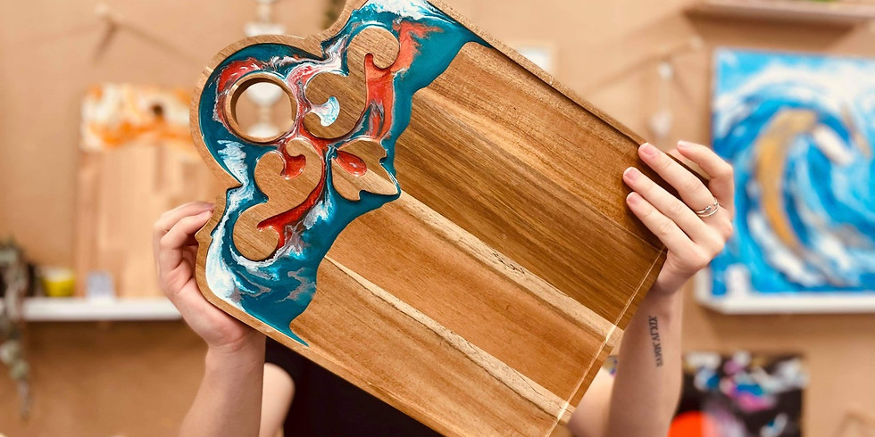 COORPAROO -  Learn to make a resin acanthus board!