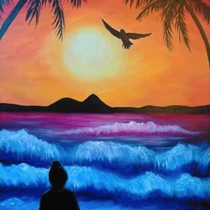 Degani Coorparoo - Learn to paint 'Sunset Zen'