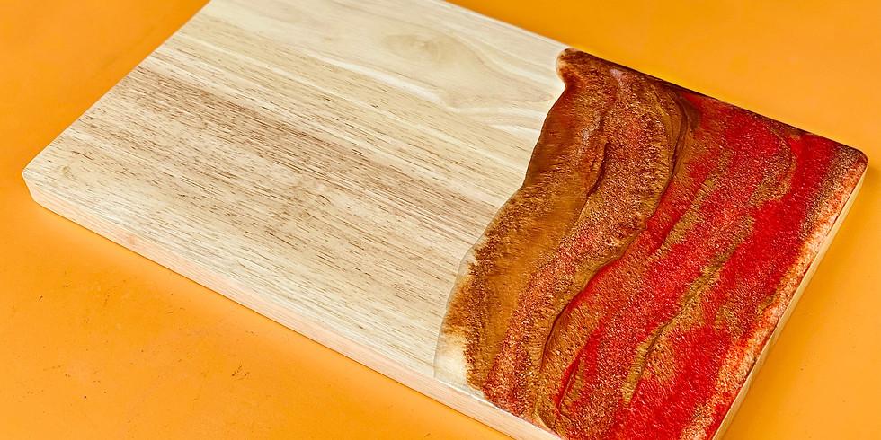 LOGANHOLME - Learn to make resin Christmas cheeseboard!