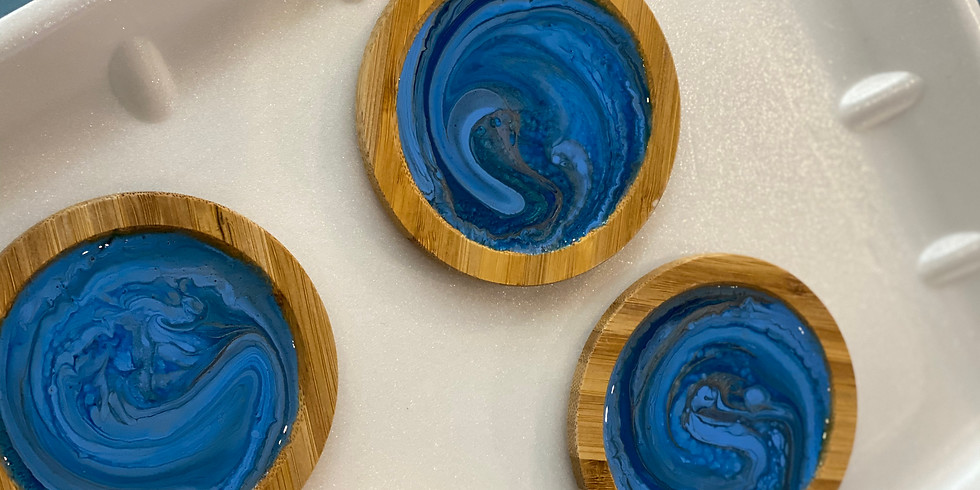 LOGANHOLME - Learn to make 4x resin coasters/drink lids!