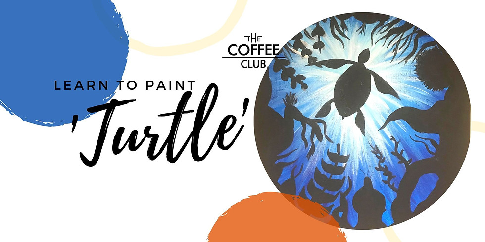 VIRTUAL CLASS - Sip 'n' learn to paint 'Turtle'