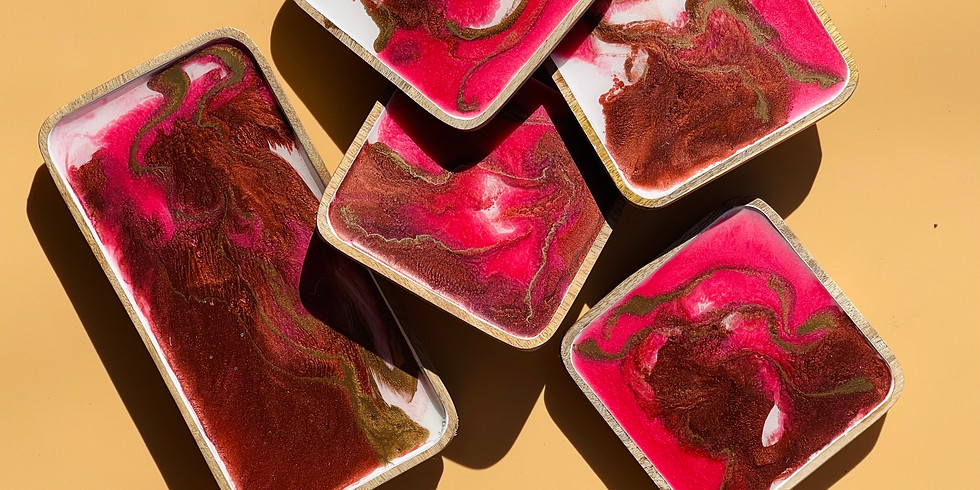 Coffee Club Browns Plains - Learn to make a resin 'dining set' (four coasters & salt+pepper tray)