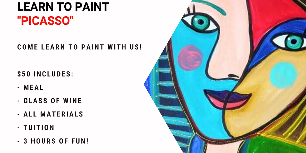 Grab a glass of wine and learn to paint 'Picasso'