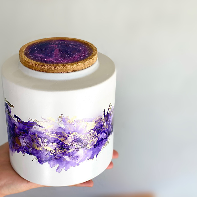 Degani Coorparoo - Learn to make a resin + alcohol ink jar!