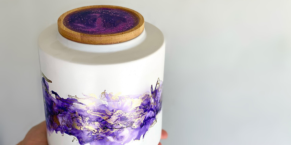 Coffee Club Browns Plains - Learn to make a resin + alcohol ink jar!