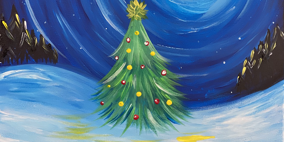 IPSWICH - JETS - Sip and Paint Christmas Class (kids)