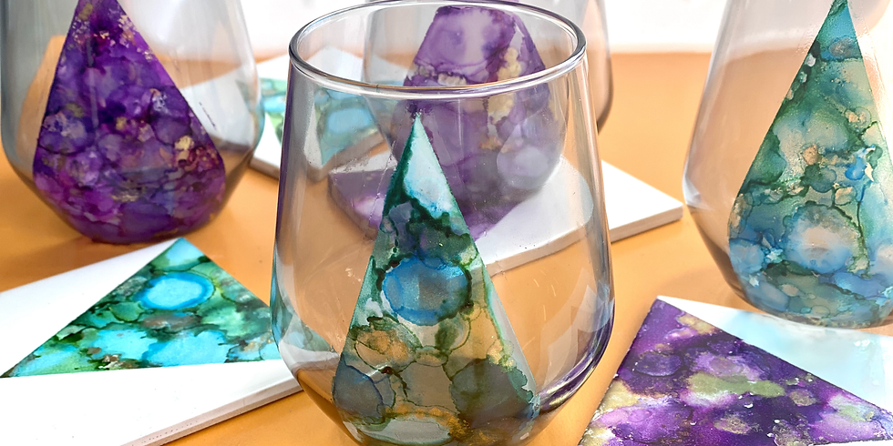 Coffee Club Hyperdome - Learn to make Ink art glasses + coasters!