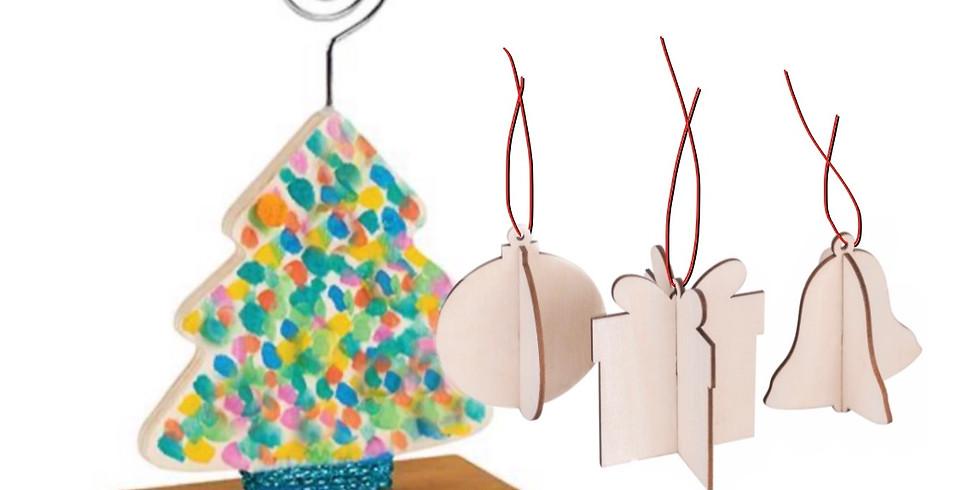 GOODNA - STUDIO - Kids - Christmas photo holder and 3x ornaments