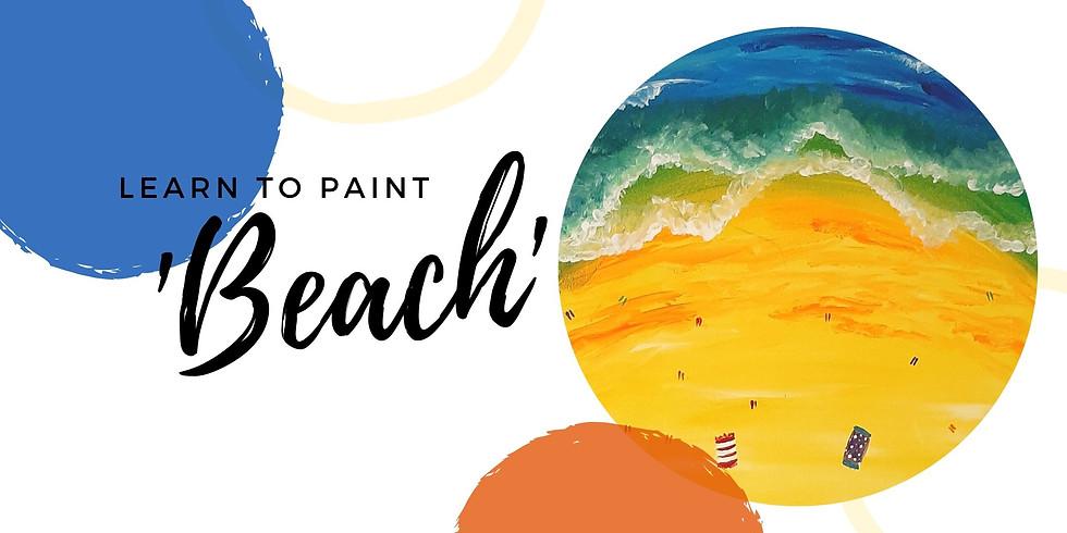 SIP N DIP STUDIO - Sip 'n' learn to paint 'Beach'