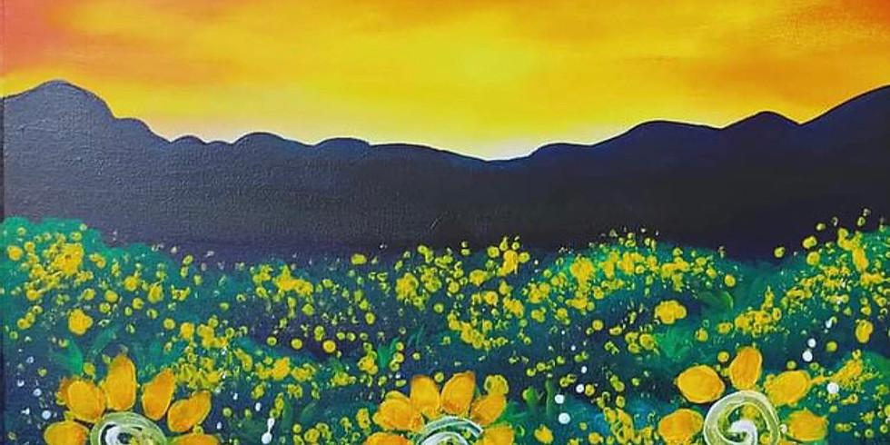 LOGANHOLME - Learn to paint 'Sunflower Field'