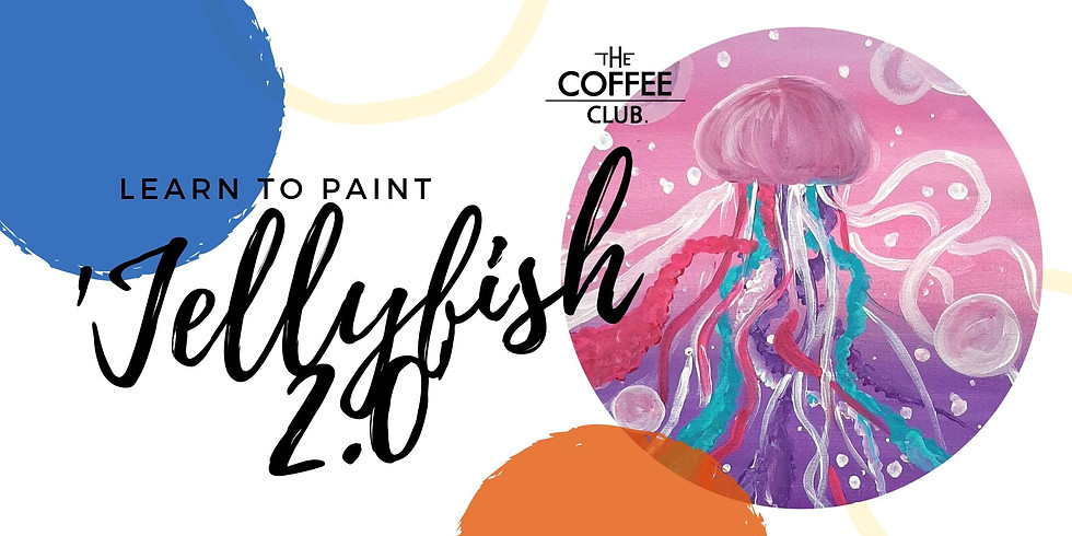 Orion Springfield - Sip 'n' learn to paint 'Jellyfish 2.0'