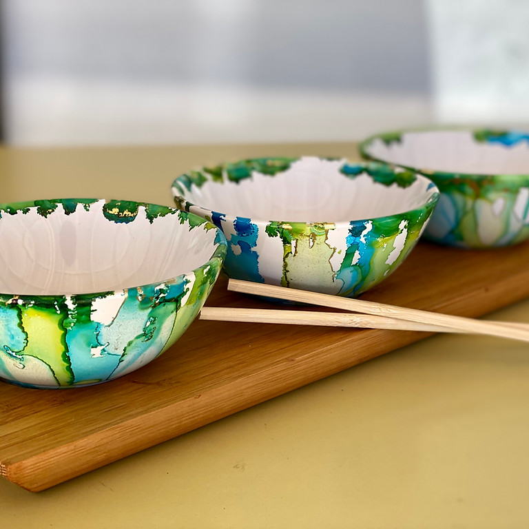 TOOWOOMBA - Learn to sip and ink with us - Pigmented Ink Bowls & Bamboo Tray
