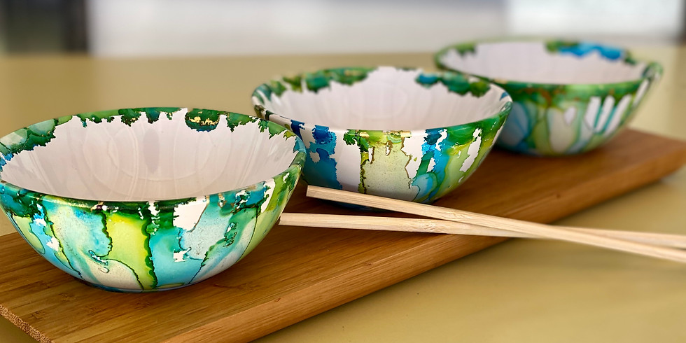 SOUTHGATE - Learn to make an alcohol ink decorated condiment bowl tray!