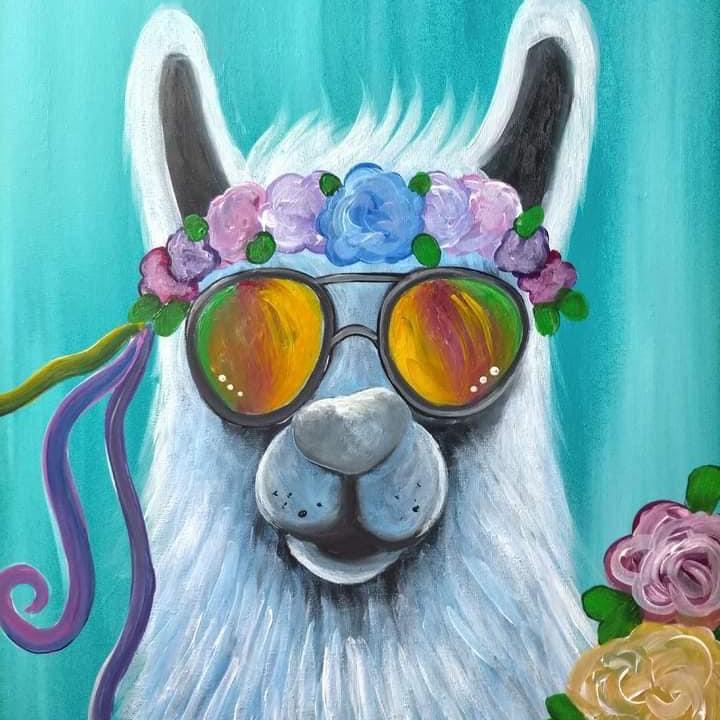 Coffee Club Hyperdome - Learn to paint 'Drama Llama'!