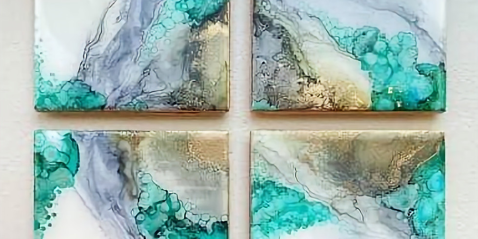 Orion - Learn to make alcohol ink / resin coasters!