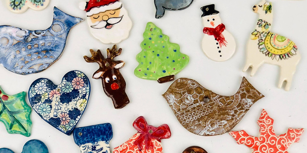 GOODNA - STUDIO - Pottery Class - Christmas Decorations!