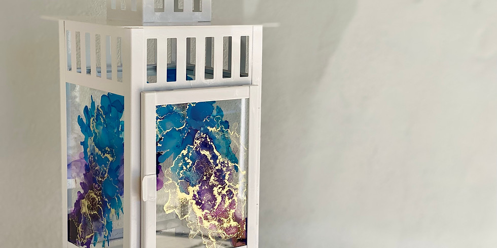 BROWNS PLAINS - Learn to make an alcohol ink lantern!