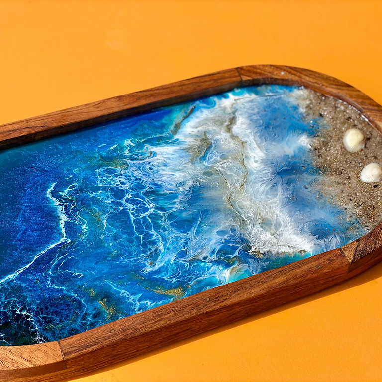 Coffee Club Southgate - Learn to make a resin platter board!