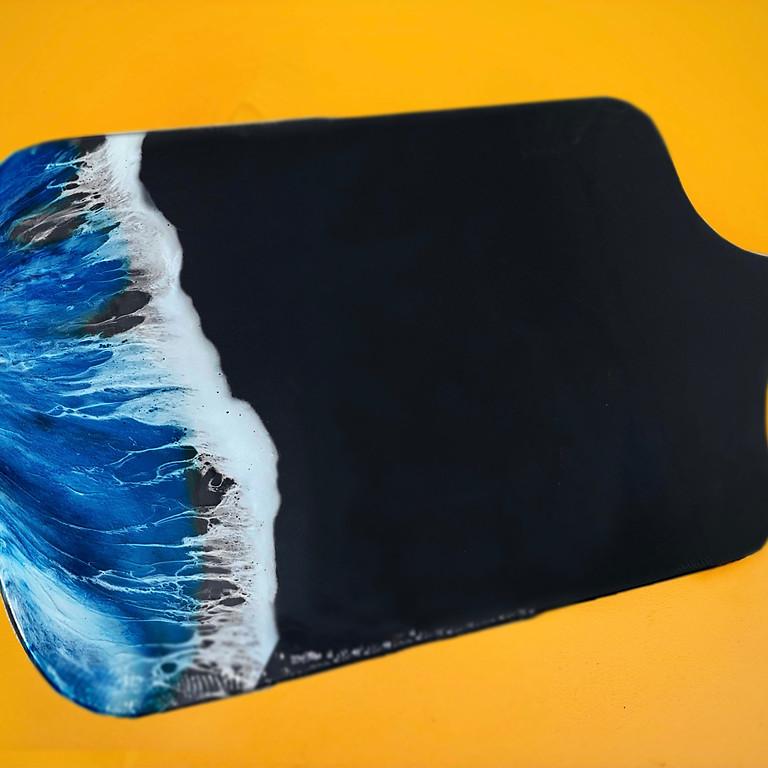 Coffee Club Hyperdome - Learn to make a resin (black) cheeseboard!