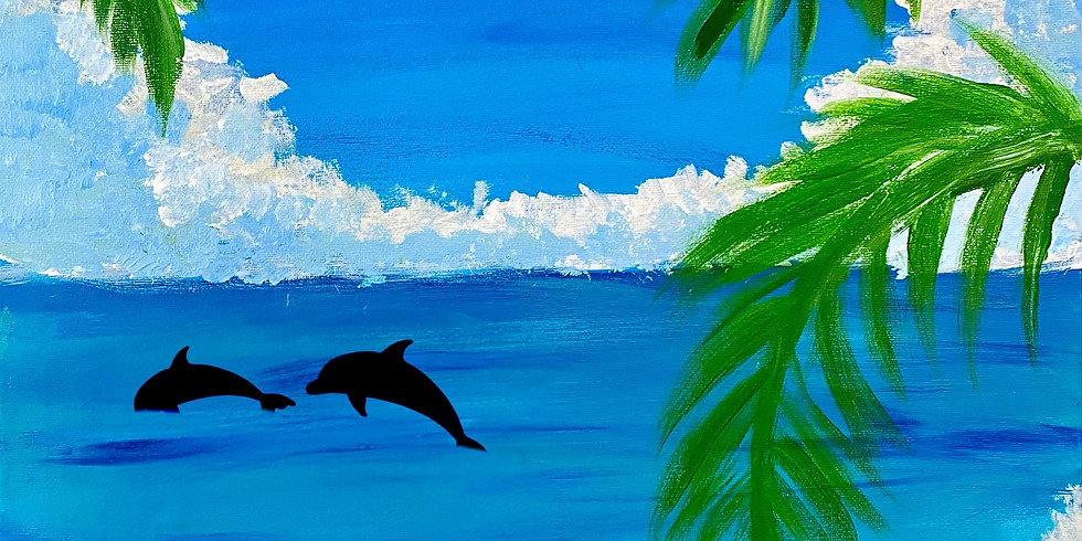 Coffee Club Browns Plains - Learn to make a paint 'Afternoon Swim'!